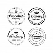stock photo of cupcakes  - Bakery and cupcakes badges - JPG
