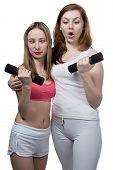 Two Girls Do Fitness