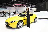 Bangkok - March 25 : Aston Martin V8 Vantage S Car With Unidentified Model On Display At The 35Th Ba