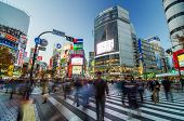 Tokyo - November 28: Pedestrians At The Famed Crossing Of Shibuya District