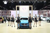 Bangkok - March 25 : Volvo V40 Trailblazer 2.8L 4Wd Ltz Car With Unidentified Models On Display At T