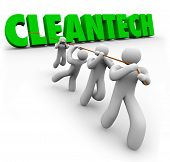 CleanTech Word Pulled by Team Power Energy Business