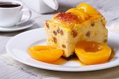 Cheese Casserole With Raisins And Peaches