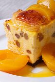 Cheese Casserole With Raisins And Peaches Vertical