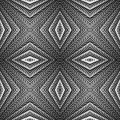 Design Seamless Diamond Striped Pattern. Abstract Geometric Monochrome Background