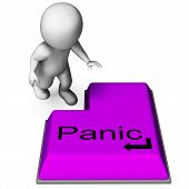pic of panic  - Panic Key Meaning Alarm Distress And Dread - JPG