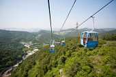 Cableway in the suburbs of Dalian. East China.