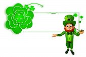 Leprechaun for patrick's day with smoking pipe