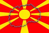 stock photo of macedonia  - Map of Macedonia - JPG