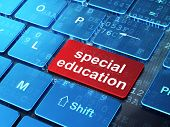 Special Education on computer keyboard