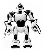 SAINT-PETERSBURG, RUSSIA - March 31, 2014: Photo of  robotics toy Robosapien V2. Robot combines flui