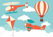 stock photo of biplane  - Illustration of a helicopter - JPG