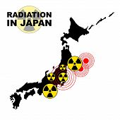 Radiation in Japan island