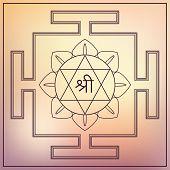 Yantra Goddess Lakshmi.
