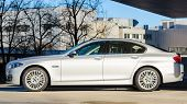 Sideview Of New Modern Model Bmw 535I Sedan