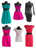 Collection Of Different Colorful Dress On A Mannequin