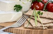 Camembert With Crispbread And Herbs
