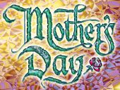 Mothers Day logotype banner poster