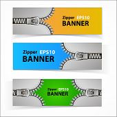 Promotional sale banners with zipper