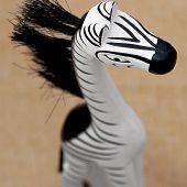 Decorative Wooden Zebra