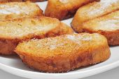 image of lent  - closeup of a plate with torrijas - JPG