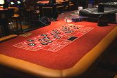 Table Roulette In A Casino Treasure Island. Las Vegas
