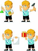 Постер, плакат: Blonde Rich Boy Customizable Mascot 6