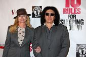 LOS ANGELES - APR 1:  Shannon Tweed, Gene Simmons at the