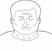 Outline Of Depressed Man