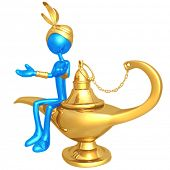 Djinn With Magic Lamp