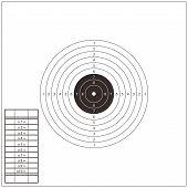stock photo of shooting-range  - Shooting Range Target white Template - JPG