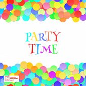 Party Seamless Pattern. Confetti. Vector