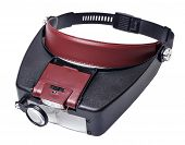 headband magnifer with detachable light source box