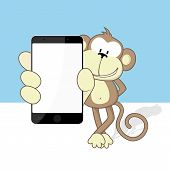 monkey with smartphone