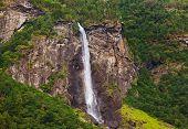 Waterfall In Flam - Norway