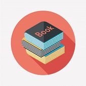 Book Flat Icon With Long Shadow,eps10