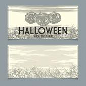 Halloween invitation template.