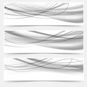 Modern Halftone Gray Headers Web Collection