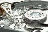 Broken hard disk drive