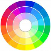 picture of color wheel  - Circle of Colors - JPG