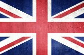 Flag Of The United Kingdom with Grunge effect