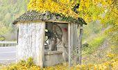 Old Fountain On Autumn Time