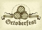 picture of drawing beer  - illustration on the theme of the Oktoberfest beer festival - JPG