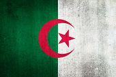 National Flag Of Algeria. Grungy Effect.