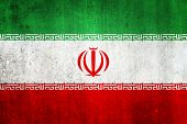 National Flag Of Iran. Grungy Effect.