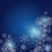 Christmas Background With Snowflakes And Space For Text. Vector Illustration.