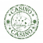 Casino grunge rubber stamp