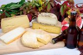 pic of fruit platter  - french cheese platter with bottles of beer - JPG