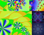 Bright Abstract Backgrounds.