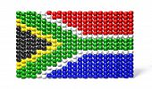 foto of zulu  - A traditional zulu beaded south african flag on an isolated background - JPG